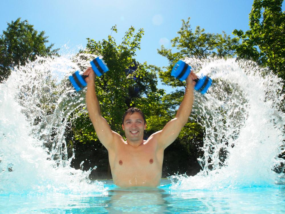 Aqua Fitness Kurs im Außenbecken der OstseeTherme Usedom