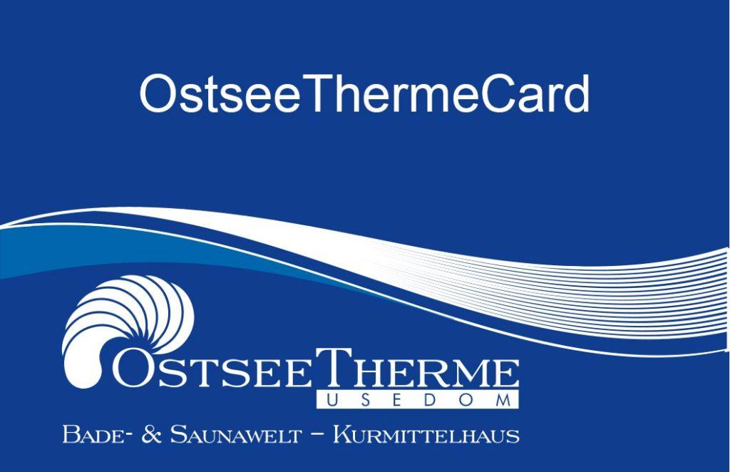 OstseeThermeCard der OstseeTherme Usedom im Seebad Ahlbeck, Rabattkarte